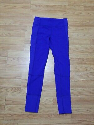 Ivivva North Star Pant Quilted Pockets Ankle Zip Pigment Blue Size 14