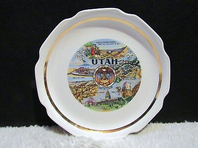 """9.25"""" Utah State Decorative Plate, Collectible"""