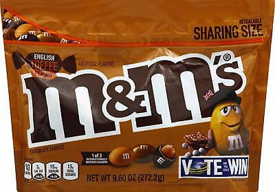 MM'S Chocolate Candy Flavor Vote English Toffee Peanut Sharing Size, 9.6 Ounce