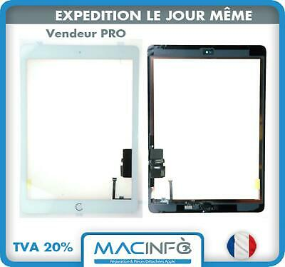 Ecran vitre tactile Blanc + bouton Home + stickers pour iPad Air 1 / iPad 5
