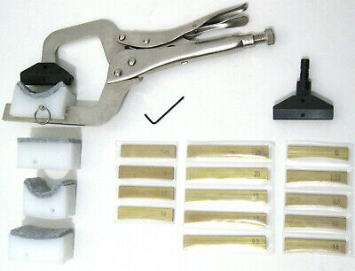 Hand held Fret Press w/ 4 Supports and 14 Fret Press Inserts and Fret Press Caul
