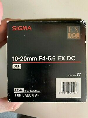 Sigma 10-20mm f4-5.6 EX DC HSM Lens For Canon EF-S Camera New