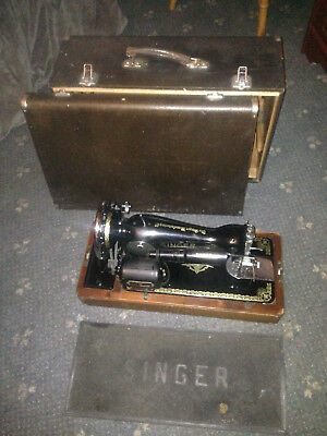 Vintage Singer Electric Sewing Machine with Case