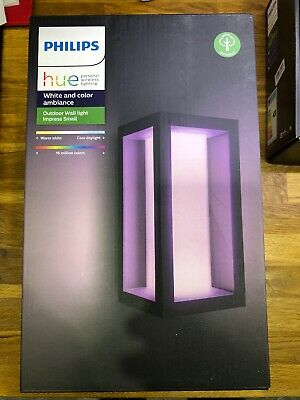 Philips Hue Impress Outdoor Wall Light Colour - Smart Light - A+ Rated