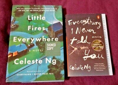 Little Fires Everywhere (Signed) + Everything I Never Told You by Celeste Ng