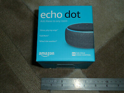 AMAZON ECHO DOT 3rd Generation Smart Assistant Speaker Charcoal BRAND NEW SEALED