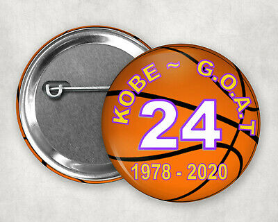 """Kobe Bryant GOAT greatest of all time Button Pin 2.25"""""""