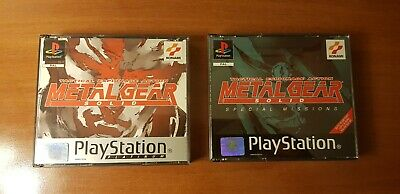 Metal Gear Solid Platinum with Special Mission PAL ENG PS1 Playstation Konami