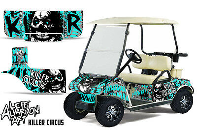 Club Auto Golf Cart Wrap Grafiken Vinyl Aufkleber Set 1983-2014 Zirkus Mint