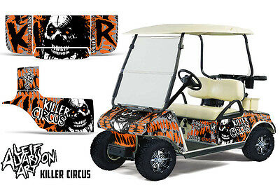 Club Auto Golf Cart Wrap Grafiken Vinyl Aufkleber Set 1983-2014 Zirkus Orange