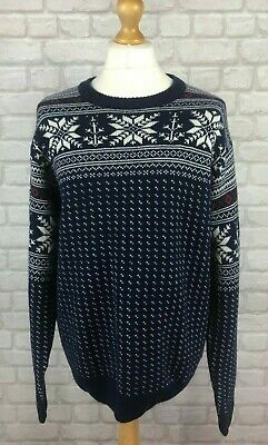 Gant Men's 100% Lambswool FairIsle Print Knitted Jumper Sweater Pullover Size XL