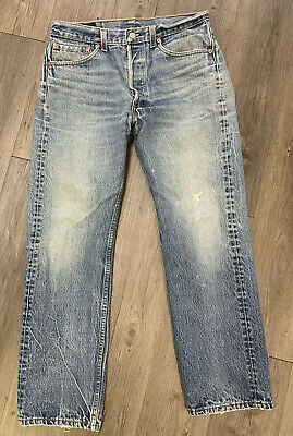 VTG Levis 501xx Button Fly Jeans Size 30 X 29 Made USA