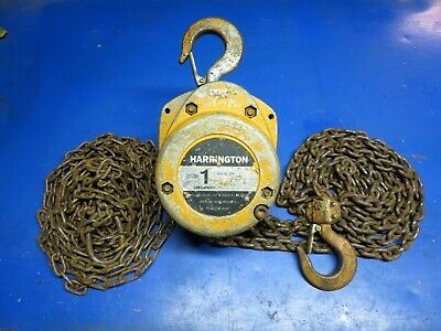 Harrington CF010-15 1 Ton Chain Hoist 15 FT Lift 15'