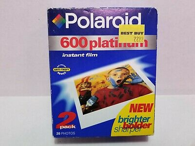 Polaroid 600 Platinum Instant Film 2 Packs 20 Photos SEALED Packs EXP 05/2001