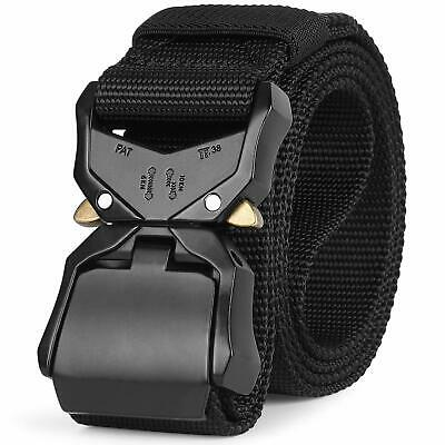 Mens Tactical Belt SANSTHS Military Nylon Web Heavy Duty Buckle Riggers Belt