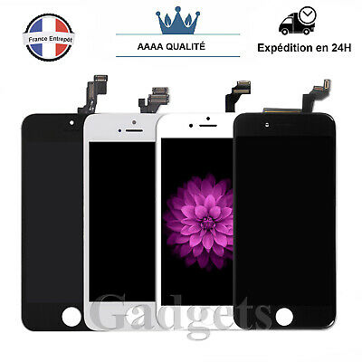 Ecran Complet iPhone 5/5C/5S/6/6S LCD + Vitre Tactile Sur Chassis  - Grade AAA