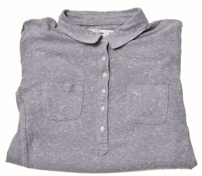 ABERCROMBIE & FITCH Girls Top Long Sleeve 12-13 Years XL Grey Cotton  CD09