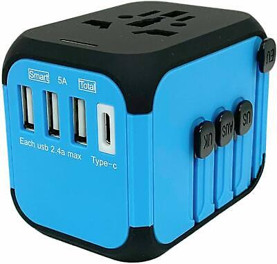Jollyfit International Universal Travel Adapter Type C and 3 USB Charger Power