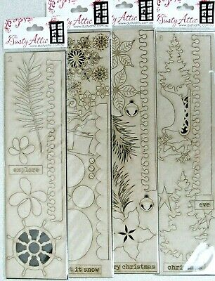 New 2020 Dusty Attic Chipboard Your Choice of Style Packages 3x5.5 to 3x6