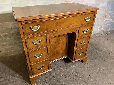 Small Georgian Style Burr Walnut Desk  . Delivery Available Most Areas