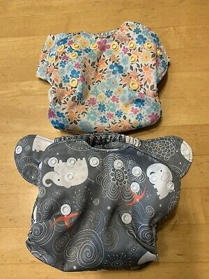2 Smart Bottoms, Born Smart. Organic Cloth Diapers. Newborn Cloth Diapers. VGUC