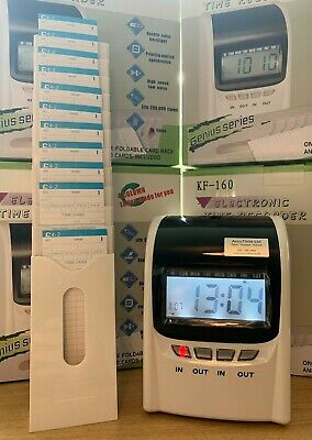 Time Recorder Clocking in Clock Machine MONTHLY Model + FREE Cards & Rack