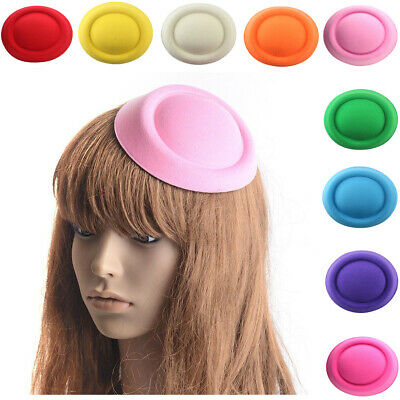 Ladies Party Fascinator Pillbox Cap Wool Felt Hat Beret Women Hair Accessory
