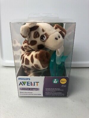 Philips Avent Soothie Snuggle Pacifier, 0m+, Giraffe