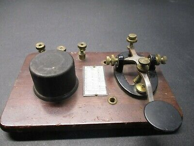Antique International Signal Electric Mfg. Co. Telegraph Key Morse Code