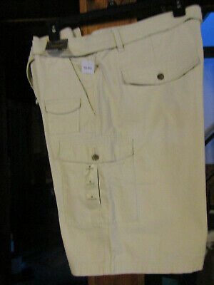 Northwest Territory Mens Size 44 Cargo Belted Shorts Light Beige Casual Nwt