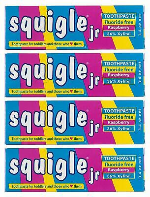 Squigle Jr Toothpaste For Infants,Toddlers,Travelers. Prevent Canker Sores 4 Pck