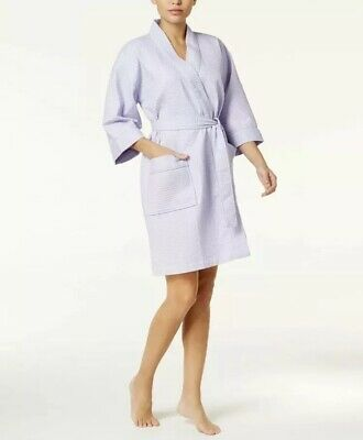 NEW W/TAGS Charter Club Waffle Weave Knit Short Women's Robe White Size 3XL $60