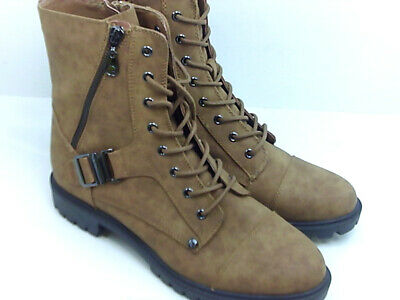 Size 9.5 Medium Natural G By Guess Womens Peeder Leather Closed Toe Ankle