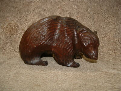 Hand Carved Bear Heavy Lignum Vitae Wood ? 3 Inches High X 5 Inches Long