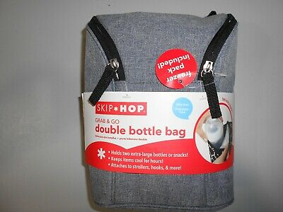 Skip Hop double bottle insulated bag with freezer pack BPA-free Phthalate-free