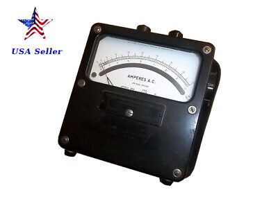 Weston Electrical Instruments,model 433, 162265,25-500 cycles,amperes A.C. meter