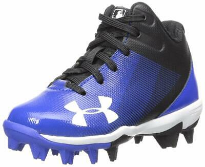 Under Armour Kids' Leadoff Mid Jr. Rm Baseball Shoe, Blue, Size 0.0 Spp4