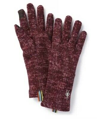 Smartwool Merino 250 Pattern Womans Gloves-Fig-Size Med-Touchscreen Able-NWT