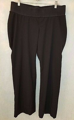 Two Hearts Maternity Womens Black Striped Pants Size L