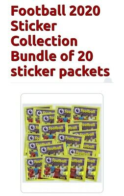 Panini  FOOTBALL 2020 Premier League Sticker 20 packets free postage