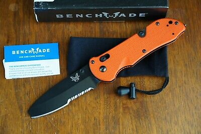 Benchmade 916SBK-ORG Triage Knife - Black Partial Serrate /Orange Handle