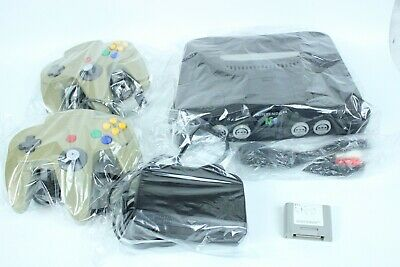 Nintendo  64 N64 Console black Controller japan tested working