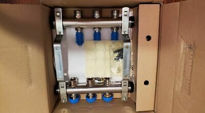 """1"""" Flowmaster Manifold Stainless Steel type HKV 2013-A 03 Watts Radiant Article"""