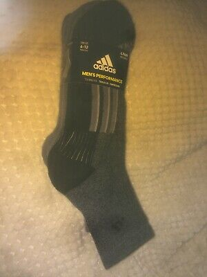 Adidas Mens's Performance Climalite Traxion Compression Socks 4 Pairs 6-12 Size