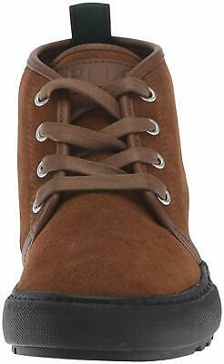 Kids Polo Ralph Lauren Boys Chett Leather Hight Top Lace, Snuff Suede, Size 5.5