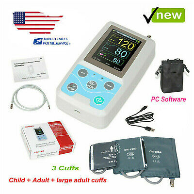 Three cuffs 24 hours Ambulatory NIBP monitor Blood Pressure Monitor ABPM50 FDA