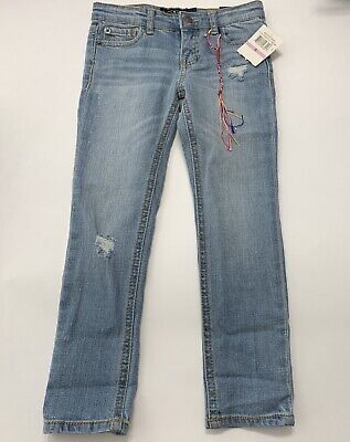 Lucky Brand Kids Girl Size 6 Gray Zoe Skinny Jeans, NWT Authentic Wash