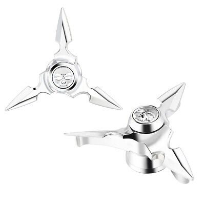 Spun Blade Spinning Axle Caps Fit Harley 29.5MM Touring 883 FLHX BK//Chrome