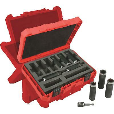 Milwaukee Shockwave 9-Piece 1/2 In. Drive Thin Wall Deep Impact Driver Set