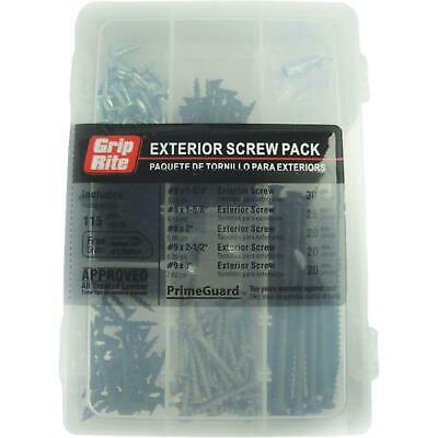 Grip-Rite Assorted 115-Piece Exterior Screw Multipack